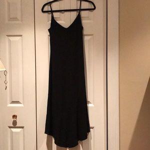 Black crape dress.